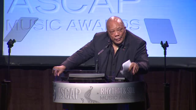 quincy jones at 25th ascap rhythm soul music awards on 6/29/12 in los angeles ca - quincy jones stock videos & royalty-free footage