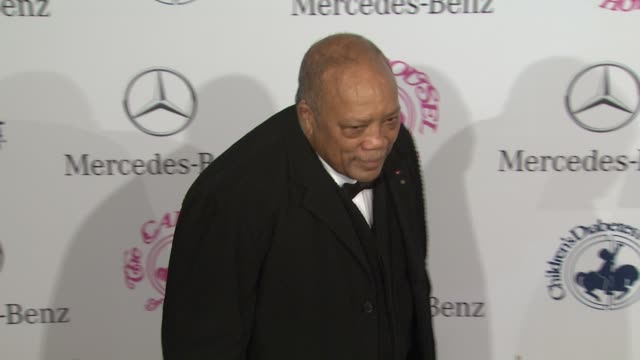 quincy jones at 26th anniversary carousel of hope ball on in beverly hills ca - quincy jones stock videos & royalty-free footage