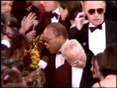 Quincy Jones at the 1995 Academy Awards Arrivals at the Shrine Auditorium in Los Angeles California on March 27 1995
