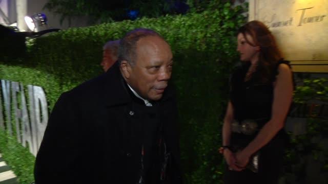 Quincy Jones at The 2013 Vanity Fair Oscar Party Hosted By Graydon Carter Quincy Jones at The 2013 Vanity Fair Oscar Party at Sunset Tower on...