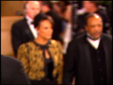 quincy jones at the afi honors honoring clint eastwood entrances at the beverly hilton in beverly hills california on march 1 1996 - quincy jones stock videos & royalty-free footage