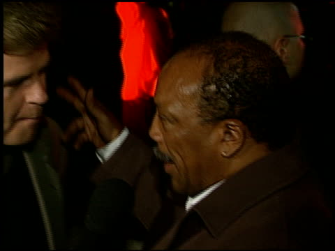 quincy jones at the 'batman and robin' premiere on june 12, 1997. - quincy jones stock-videos und b-roll-filmmaterial