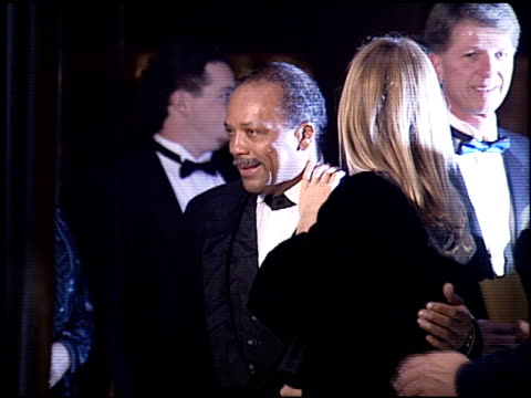 quincy jones at the carousel of hope gala event at the beverly hilton in beverly hills, california on october 28, 1994. - quincy jones stock-videos und b-roll-filmmaterial