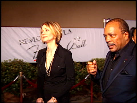 quincy jones at the fire and ice ball at warner brothers studios in burbank california on october 17 1996 - quincy jones stock videos & royalty-free footage