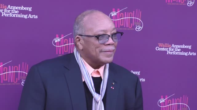 quincy jones at the mancini delivered a musical tribute to ginny and henry mancini on april 01 2017 in beverly hills california - quincy jones stock videos & royalty-free footage