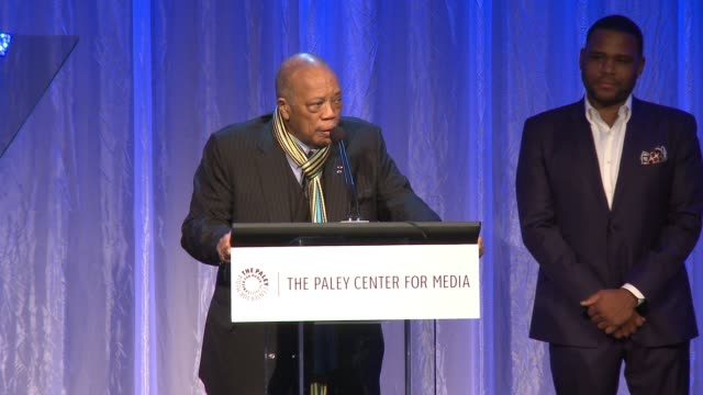 quincy jones at the paley center for media's tribute to african-american achievements in television presented by jpmorgan chase & co. at the beverly... - quincy jones stock-videos und b-roll-filmmaterial