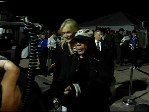 quincy jones at the rockin' the corp an american thank you celebration concert for us marines at camp pendelton marine base in oceanside, california... - quincy jones stock-videos und b-roll-filmmaterial