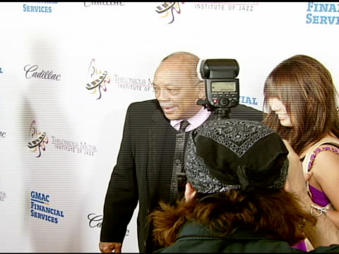 quincy jones at the the thelonious monk institute of jazz and the recording academy® los angeles chapter partner to honor jazz icon herbie hancock at... - herbie hancock stock-videos und b-roll-filmmaterial