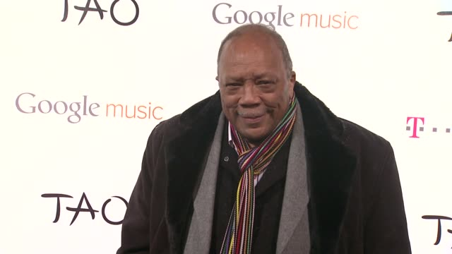 quincy jones at the tmobile presents google music at tao day 1 on 1/20/12 in park city ut - quincy jones stock videos & royalty-free footage