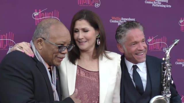 quincy jones monica mancini at the mancini delivered a musical tribute to ginny and henry mancini on april 01 2017 in beverly hills california - quincy jones stock videos & royalty-free footage
