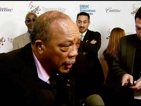 quincy jones on herbie hancock and the influence of jazz around the world, the tribute, and the competition at the the thelonious monk institute of... - herbie hancock stock-videos und b-roll-filmmaterial