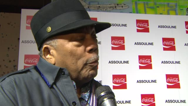 interview quincy jones on nelson mandela at the assouline and memoire set cocacola music sports launch event in los angeles california on 12/05/13 - quincy jones stock videos & royalty-free footage