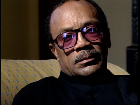 quincy jones profile; quincy jones profile; cms quincy jones intvw sof - one thing he knows how to do/he tinkered with lots of different instruments... - quincy jones stock-videos und b-roll-filmmaterial
