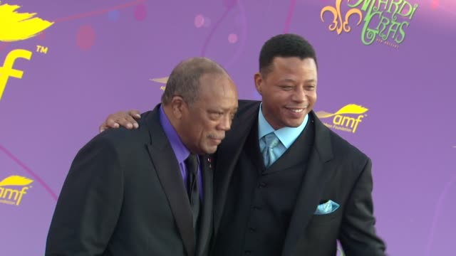 quincy jones, terrence howard at the the alfred mann foundation's annual black-tie gala at santa monica ca. - quincy jones stock-videos und b-roll-filmmaterial