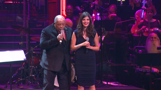 quincy jones the restrictions on the use of performance and interview footage from the evening are as follows: 1) you may excerpt up to three minutes... - quincy jones stock-videos und b-roll-filmmaterial