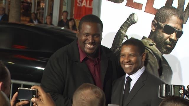 Quinton Aaron Denzel Washington at the 'The Book Of Eli' Premiere at Hollywood CA