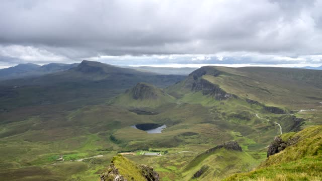 quiraing isle of skye time lapse - hebrides stock videos & royalty-free footage