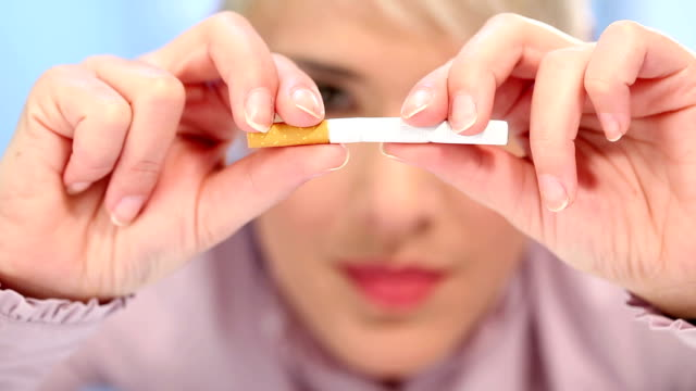 quit smoking - smoking issues stock videos & royalty-free footage