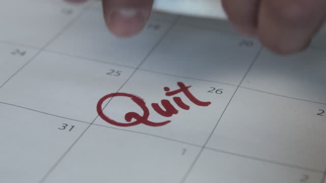 quit smoking with monthly calendar - no smoking sign stock videos & royalty-free footage