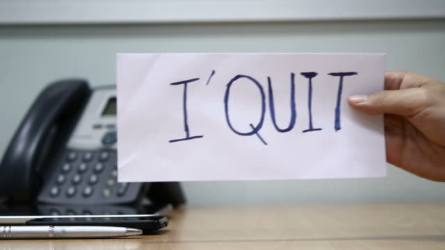 hd : quitting job - quitting a job stock videos & royalty-free footage