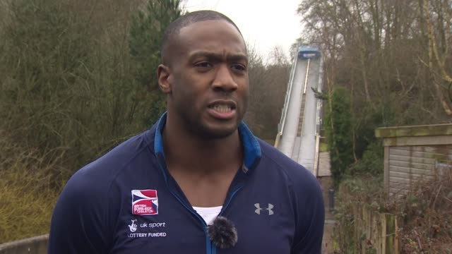 TV quiz hopeful now member of British Bobsleigh squad ENGLAND Somerset Bath Olubi interview SOT