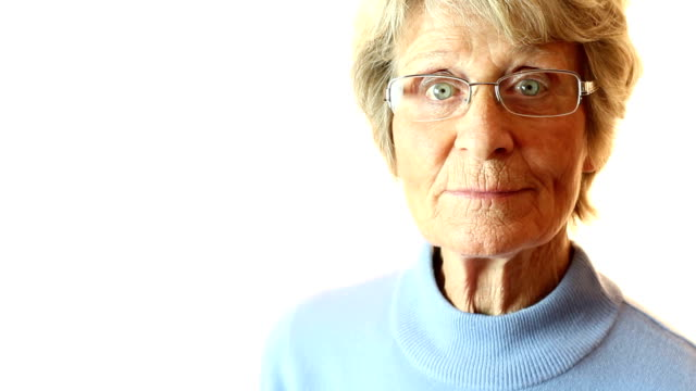 quizzical senior - raised eyebrows stock videos & royalty-free footage