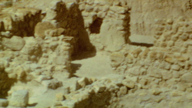 qumran signage / archeological dig / dead sea drive / qumran caves on september 02 1974 in qumran israel - biblical event stock videos & royalty-free footage
