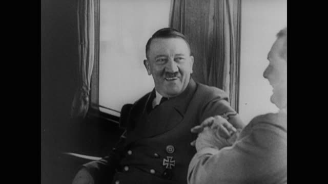 "vídeos de stock, filmes e b-roll de quote by adolf hitler flashes on the screen: ""demoralize the enemy from within by surprise, terror, sabotage, assassination. that is the war of the... - adolf hitler"
