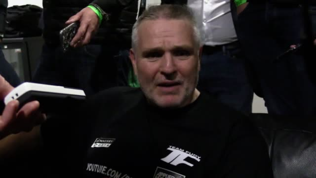Quotes from Hughie Fury's trainer and father Peter and promoter Mick Hennessy after Fury failed in his attempt to take the WBO Heavyweight...