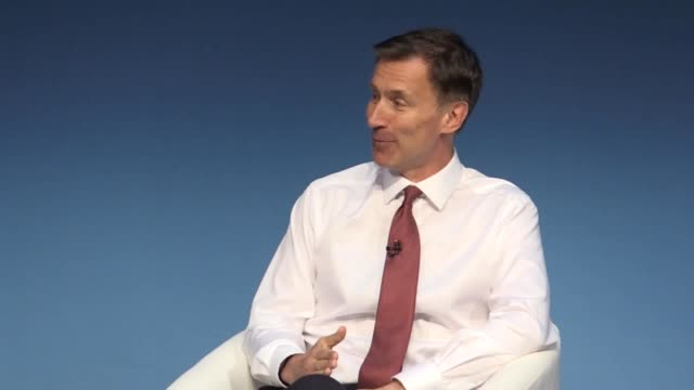 quotes from jeremy hunt at the darlington leg of conservative leadership hustings. the foreign secretary refused to comment on reports surrounding... - darlington north east england stock videos & royalty-free footage