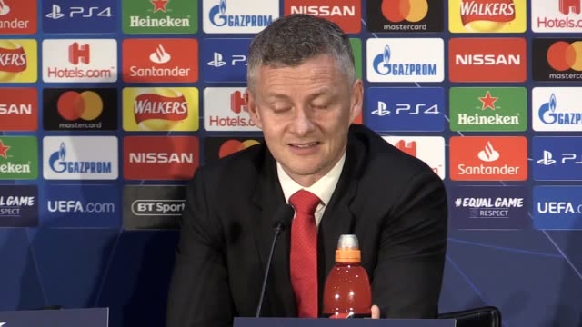 quotes from manchester united manager ole gunnar solskjaer ahead of their uefa champions league quarter final first leg match against barcelona he... - uefa champions league stock videos and b-roll footage