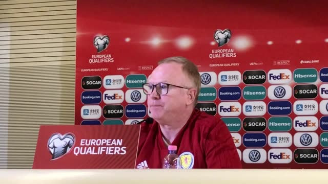 Quotes from Scotland football manager Alex McLeish at a press conference in San Marino ahead of their Euro 2020 qualifier