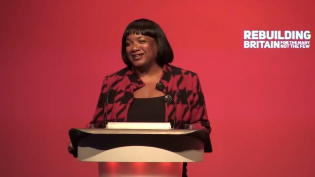 quotes from shadow home secretary diane abbott's speech to the labour party conference in liverpool she criticises tory police cuts and pledges... - diane abbott stock videos & royalty-free footage