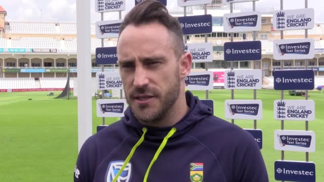 quotes from south africa captain faf du plessis ahead of the 2nd investec test against england at trent bridge he says he had mixed feelings last... - international match stock videos & royalty-free footage