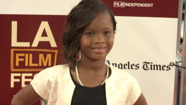 Quvenzhané Wallis at 2012 Los Angeles Film Festival Premiere of 'People Like Us' Quvenzhané Wallis at 2012 Los Angeles Film Festiva at Regal Cinemas...