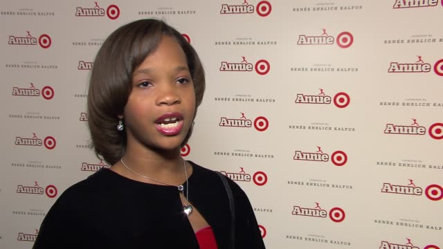 INTERVIEW Quvenzhané Wallis on Annie and Target partnership on what she loved about working on the film at Annie For Target Launch Event on November...
