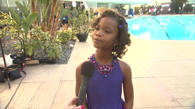 INTERVIEW QuvenzhanŽ Wallis on who she met at the Oscars luncheon at 85th Academy Awards Nominations Luncheon 2/4/2013 in Beverly Hills CA