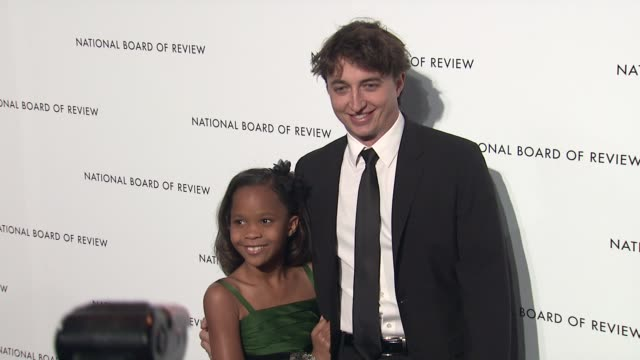 Quvenzhane Wallis and Benh Zeitlin 2013 National Board Of Review Awards Gala Arrivals at Cipriani Wall Street on January 08 2013 in New York New York