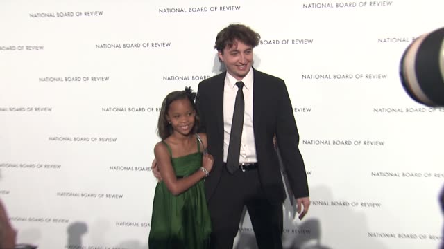 Quvenzhane Wallis and Benh Zeitlin at 2013 National Board Of Review Awards Gala Arrivals at Cipriani Wall Street on January 08 2013 in New York New...