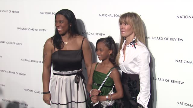 Quvenzhane Wallis and guests at 2013 National Board Of Review Awards Gala Arrivals at Cipriani Wall Street on January 08 2013 in New York New York