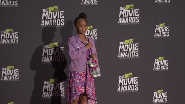 Quvenzhane Wallis at 2013 MTV Movie Awards Press Room on 4/14/13 in Los Angeles CA