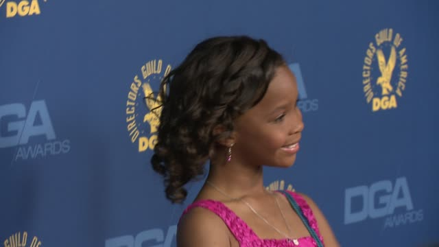 Quvenzhane Wallis at 65th Annual Directors Guild Of America Awards Arrivals 2/2/2013 in Hollywood CA