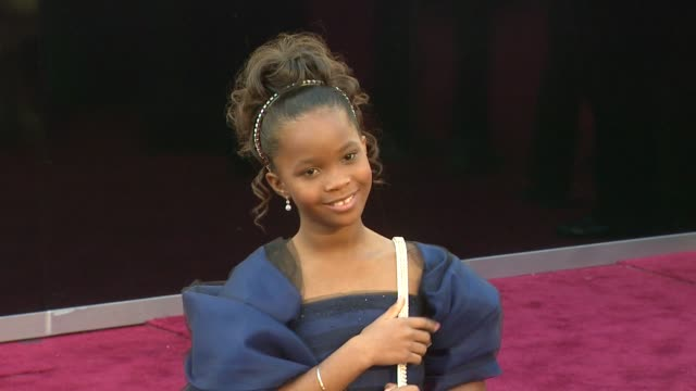 Quvenzhane Wallis at 85th Annual Academy Awards Arrivals in Hollywood CA on 2/24/13