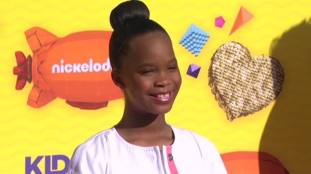 Quvenzhane Wallis at Nickelodeon's 28th Annual Kids' Choice Awards at The Forum on March 28 2015 in Inglewood California
