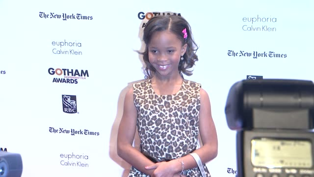 Quvenzhane Wallis at The 22nd Annual Gotham Independent Film Awards at Cipriani Wall Street on November 26 2012 in New York New York