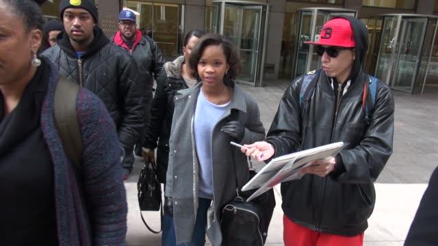 Quvenzhane Wallis leaving SiriusXM Satellite Radio in Celebrity Sightings in New York