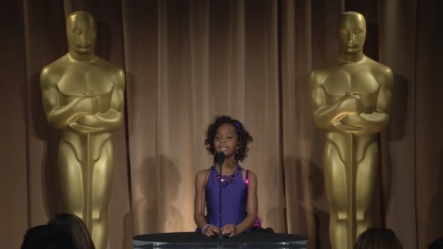 INTERVIEW Quvenzhane Wallis on being at the event at the 85th Academy Awards Nominations Luncheon in Beverly Hills CA on 2/4/13