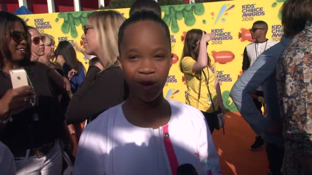 INTERVIEW Quvenzhane Wallis on being excited for the KCAs what makes this the most fun award show and who she wants to get slimed at Nickelodeon's...