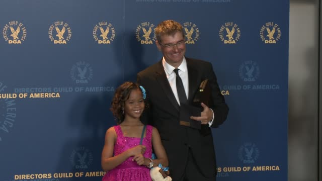 Quvenzhane Wallis Paul Hoen at 65th Annual Directors Guild Of America Awards Press Room 2/2/2013 in Hollywood CA