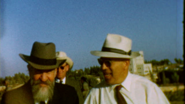 rabbi wolf gold was one of the signatories of the israeli declaration of independence / in this clip he visits mount hertzl for a mizrachi / bnei... - israel stock videos & royalty-free footage